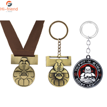 10pcs Star Wars Medal of Yavin Luke Skywalker Necklace Han Solo Chewbacca Replica Alloy Accessories Souvenir