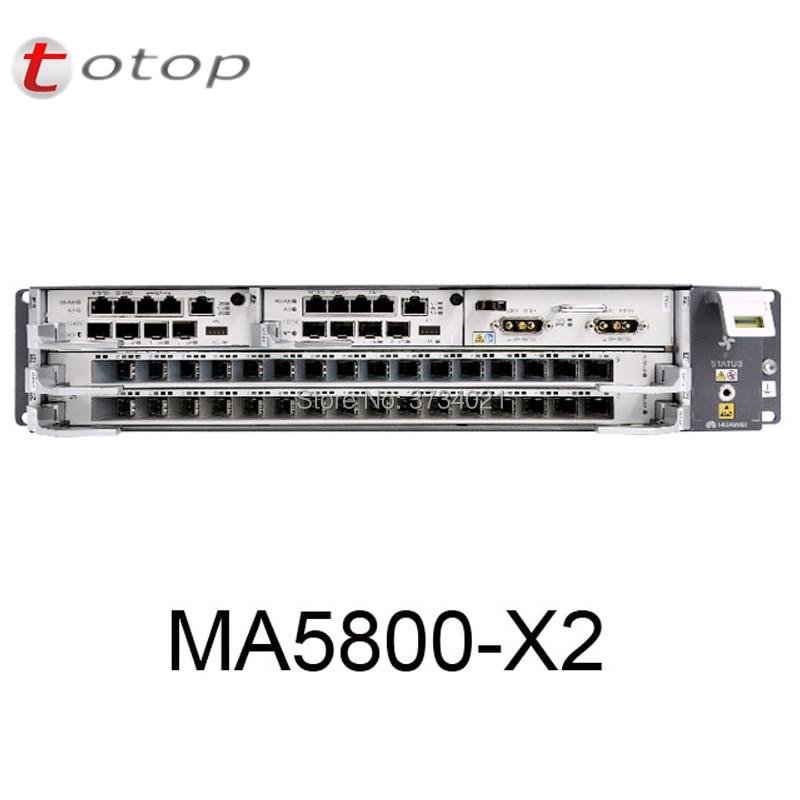 Huawei GPON OLT MA5800-X2 OLT With 2 *MPSC Control Board + 1 * PISA Power Board + 2*GPHF Service Board 16 Port C+