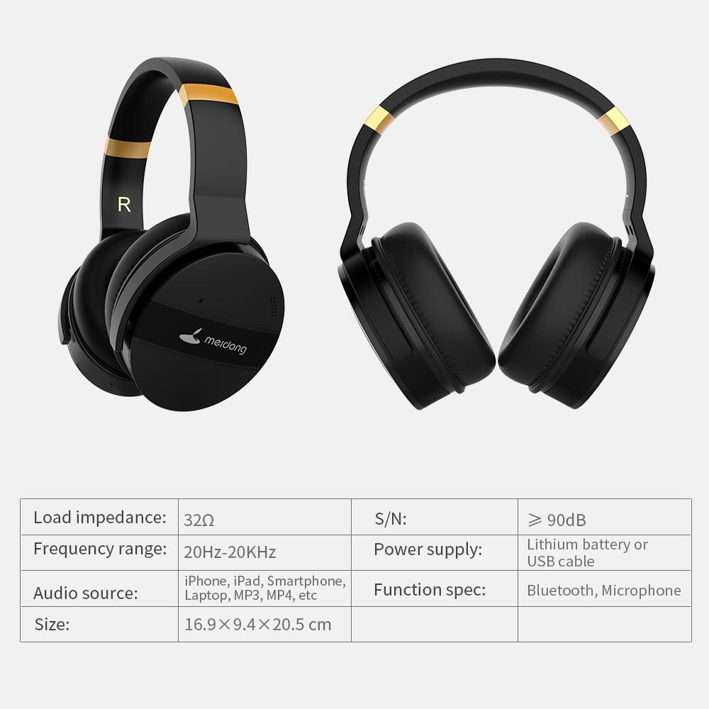 COWIN E8A ANC наушники с микрофоном для компьютера, телефона, путешествий, работы, активного шумоподавления, беспроводные Bluetooth Накладные наушник... - 5