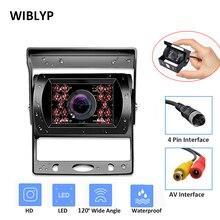 цена на 18 LED Car Reversing Camera Night Vision For 12V 24V Bus Truck Trailer Car Rear View IR Camera HD Backup Camera Waterproof
