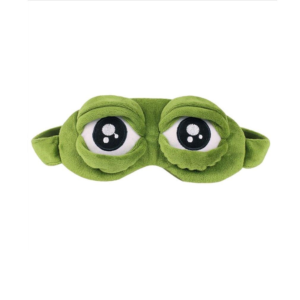 Lovely Frogs Eyes Sleeping Eye Mask Elastic Bandage Eyeshade Cover Eyepatch Blindfolds For Flight Travel Office Night Sleep New
