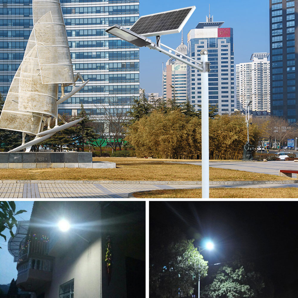 BEYLSION LED Solar Street Light Garden Solar Light 20W 30W  50W 100W 200W 300W Double color Solar Lamp Battery Powered Outdoor (10)