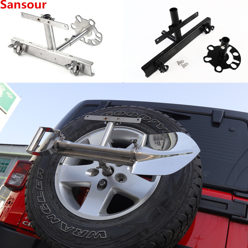 License Plate Holder Spare Tire Carrier Flag Bracket For Jeep Wrangler For Suzuki Jimny Off-road Vehicle Outdoor Tool Holder