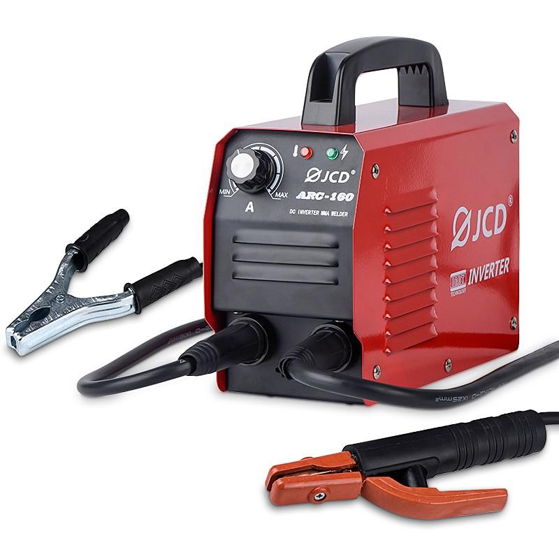 JCD DC Inverter ARC Welder 220V IGBT MMA Welding Machine 160 200 Amp LCD Digital Adjustable welder for Home DIY Beginners welder