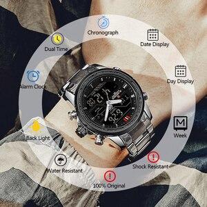 Image 5 - NAVIFORCE Luxury Mens Watch full steel Military WristWatch Digital Sports Watches Men Waterproof Quartz Clock relogio masculino