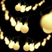 Bolylight 50 LED Globe fée chaîne lumières Plug in décor pour arbre de noël intérieur extérieur fête de mariage vacances blanc chaud