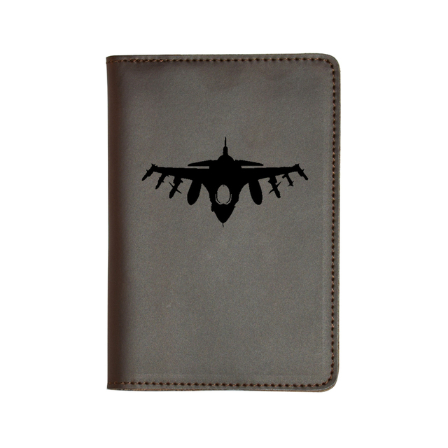 ID Holder Wallet Personalized Engraving Included Jet Airplane