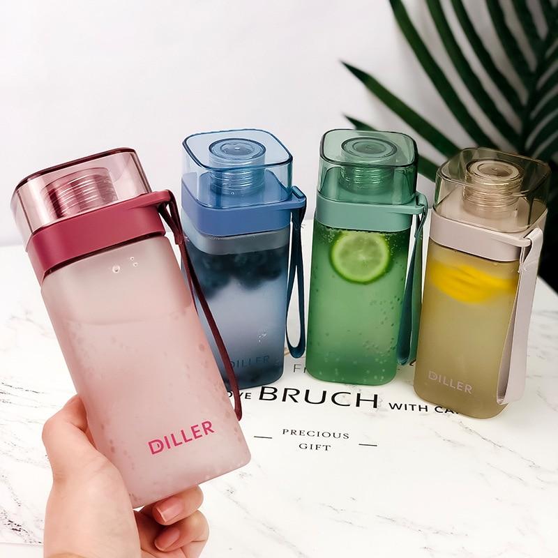 Fashion Square Water Bottle Bpa Free Plastic Portable Travel Water Drink Bottle