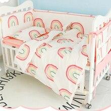 Baby Bedding Set Cotton Bumpers Rainbow Newborn Crib Duvet C