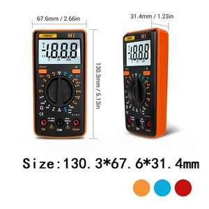 Image 3 - M1 Multimeter Portable LCD Digital Multimeter Backlight AC/DC Ammeter Voltmeter Ohm Tester Meter Handheld Multimeter Tester