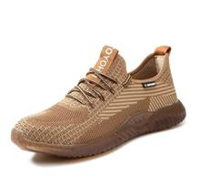 Рабочие ботинки для мужчин стальная обувь строительства дышащая