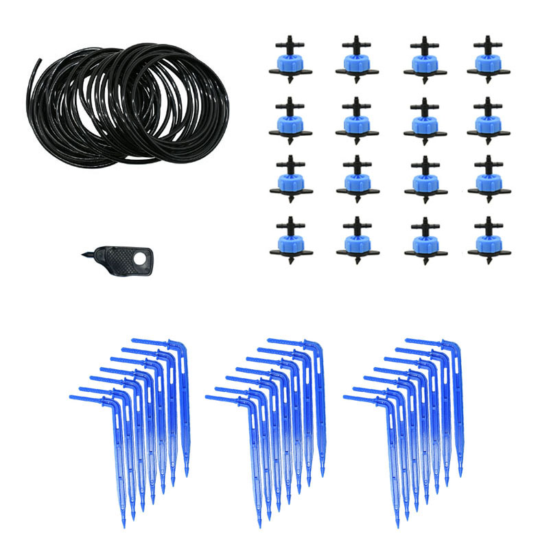 Greenhouse Drip Irrigation 2L/4L/8L 2-way Drip Arrow Kit Garden Irrigation System Potted Plants Watering Kit 20 Sets