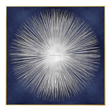 Geometric abstract canvas oil painting navy blue texture wall art bilder for living room hand painted home cuadro decoracion