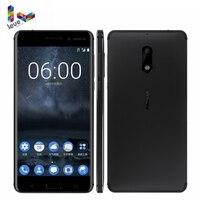 Nokia 6 Dual SIM Android Snapdragon 430 Cellphone 4GB RAM 64GB ROM Octa Core Fingerprint 5.5 1080P 4G LTE Unlocked Mobile Phone