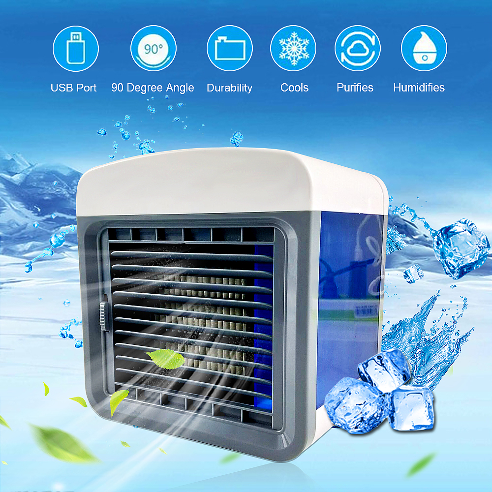 Humidifer Purifier Air Conditioner Mini Home Room Portable Convenient Air Cooling Air Conditioning Usb Desktop Air Cooler Fan