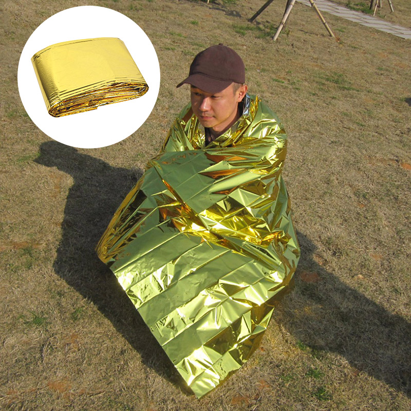 Waterproof Emergency Mat Survival Rescue Blanket Foil Thermal Space First Aid Reflective Curtain Blankets For Outdoor Camping