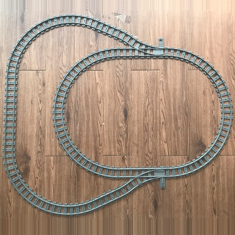 NEW Legoes Technic Train Model Building Blocks Toys City Trains  Track Straight Curved Rails Bricks Toy For Children Gifts