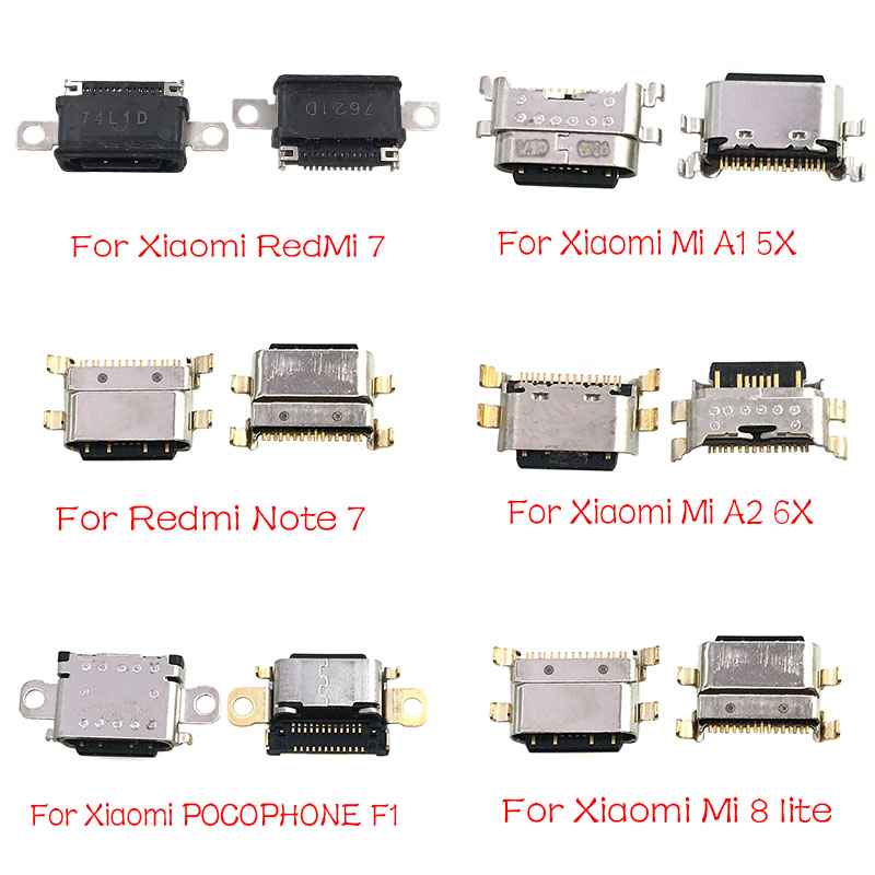 Type-C USB Jack Socket Connector Charger Charging Port For Xiaomi Mi A1 A2 8 9 CC9E Max3 Mix 3 Redmi Note 7 Pro