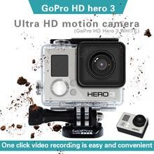 Gopro hero 3 branco vlog ultra hd à prova dwaterproof água pequena câmera de mergulho câmera de movimento aéreo motocicleta equitação e esqui câmera