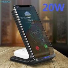2 ב 1 תחנת טעינה עבור iPhone 12 11 XR XS X 8 בתוספת Airpods פרו 20W צ י אלחוטי מטען עבור סמסונג S21 S20 Galaxy ניצני פרו