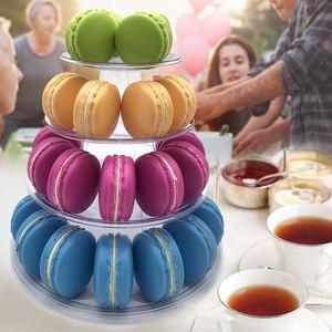 Soporte de exhibición de Cupcake de 4 niveles TORRE DE macarrón soporte de exhibición de macarrón pastel de cumpleaños fiesta de boda herramientas de decoración