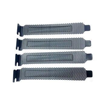 3pc Metal PCI Slot Cove Heat dissipation and dustproof baffle Guard ventilation Cooling Fan Dust Filter net Case