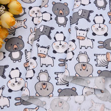Blue Panda Printed Cotton Fabric Woven Patchwork Textile Cloth DIY Sewing Quilted Apparel Fabric Designed For Baby By Meter(China)