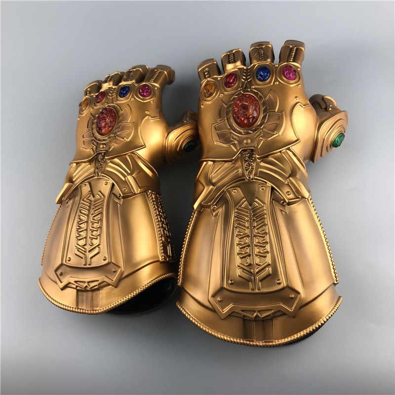 Avengers 4 Thanos Găng Tay Đèn Led Nhựa PVC Cosplay Thanos Vô Cực Nhẹ Đèn Găng Tay Đồ Chơi Người Lớn Trẻ Em Halloween Trang Phục Hóa Trang Đạo Cụ
