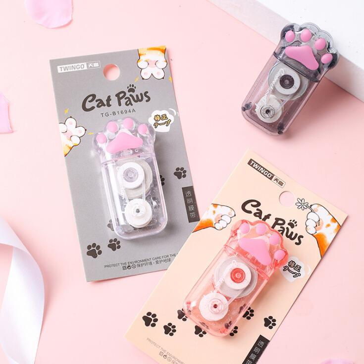 2020 Sharkbang New 1PC 6M Cute Creative Cat Paw Animal Correction Tape Corrector Tool Escolar School Students Stationery Gift