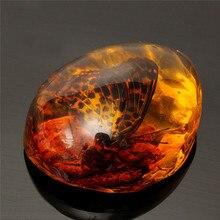 5*4 см красивый янтарь бабочка насекомые Камень кулон ожерелье драгоценный камень для DIY ювелирные изделия кулон ремесла