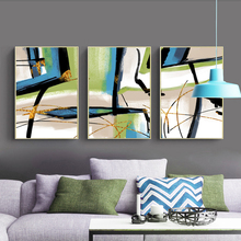 Modern Abstract Nordic Gold Lines Decoration Canvas Painting Green Ink Poster Print Wall Art Picture for Living Room Bedroom abstract canvas painting poster print wall art nordic green gold lines picture for living room bedroom decoration home decor