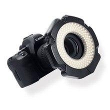 Selens LED lumière annulaire vidéo 160 puces LED réglable pour DSLR DV caméscope vidéo 5600K Source libre lentille adaptateur anneau lampe annulaire