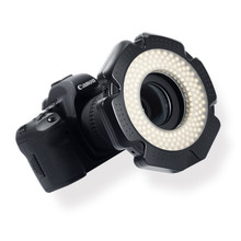 Selens led anel de vídeo luz 160 chips led regulável para dslr dv filmadora vídeo 5600 k fonte adaptador lente anel anular lâmpada