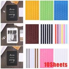 10 folhas decoração pvc quadro adesivos colorido foto canto scrapbook papel álbuns foto quadro ferramenta de proteção de imagem dropship