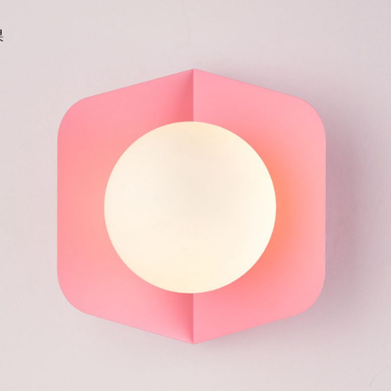 Nordic Simple Macaroon Candy Creative Personality Bedroom Bedside Wall Lamp Modern Study Sitting Room Porch Led
