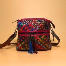2019 Luxury Handbags Women Bags Designer Leather Sheepskin Womens Shoulder Messenger Bag Woven Little Chinese Style Crossbody