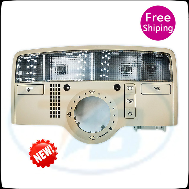 3B7 947 106B Front Rear Row of Indoor Dome Light For VW Passat B5 09 11 Interior Beige Dome Light Reading Lamp with SunRoof