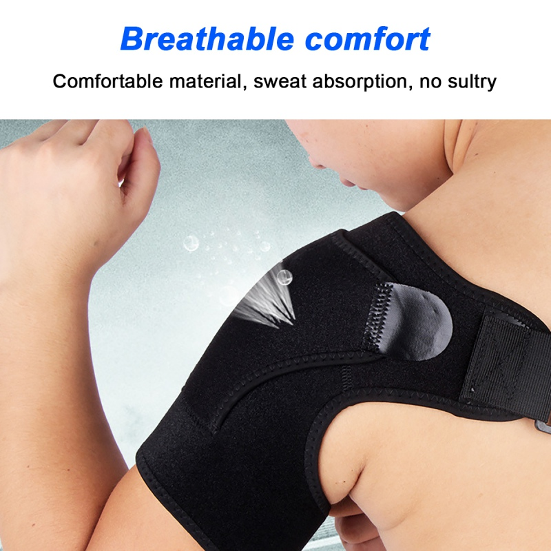 Exercise Pressure Shoulder Guard Comfortable Two-Button Pressurized  Both Right And Left Hands No Bubbles Folds