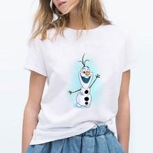 New Hip Hop 90s New T shirts Women Fun Ulzzang T-Shirt Snowman Olaf Casual Tops