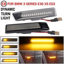 Led Dynamic Turn Signal Light Side Marker Fender Sequential Lamp Blinker For BMW E36 M3 Facelift 1997 1999 X5 E53 1999 2006