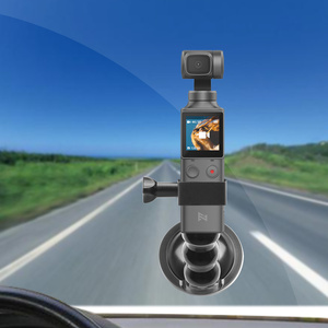 Image 3 - 2in1 Adjustable Car Suction Cup Mount Holder & Expansion Adapter Mount For FIMI PALM Handheld Camera Car Holder Accessories