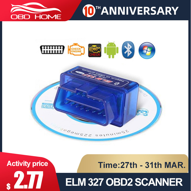 Elm327 V1.5 Bluetooth OBD2 Scanner Diagnostische Auto Elm327 1.5 Obd 2 Elm 327 Car Diagnostic Tool ODB2 Auto Scan Adapter title=