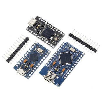 100pcs Pro Micro With the bootloader ATmega32U4 5V/16MHz Module with 2 row pin header mini leonardo for arduino