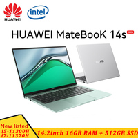 2021 HUAWEI MateBook 14s Intel Core I5-11300H/I7-11370H 14.2inch 16GB 512GB SSD 2.5K Touch Screen 90Hz high refresh rate laptop 1