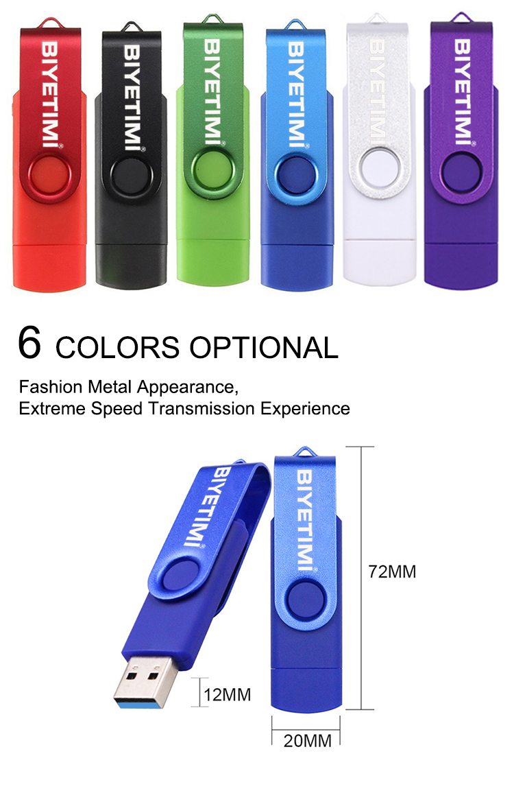 Biyetimi Type-c usb flash drive 3.0 OTG 32GB 64GB 128GB 256GB real capacity memory pendrive usb stick for phone and computer