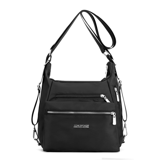 2020 Fashion Woman Shoulder Bag Nylon Waterproof Multi-pocket Messenger Bag Solid Zipper Multifunctional Travel Handbag Purses 1