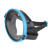 Goggle Diving-Mask Glass Anti-Fog Swim Waterproof Plastic PE 1-Pc Frame Blue HD