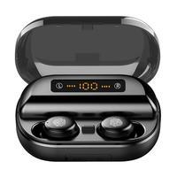 TWS V11 беспроводные наушники Bluetooth 5,0 IPX7 большая емкость батареи умный светодиодный экран гарнитура с 4000 мАч зарядный чехол