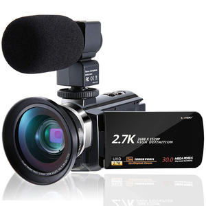 KOMERY Camcorder Video-Camera Webcam FHD Support Remote-Control Touch-Screen IPS Original