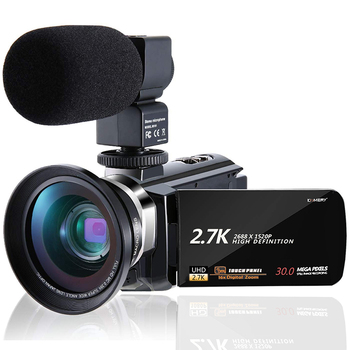 KOMERY 2.7K Video Camera Camcorder Webcam 3.0 inch IPS HD Touch Screen FHD Camera Support Remote Control Original camera